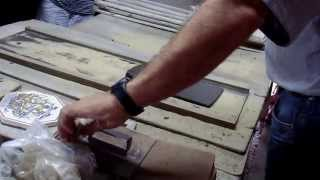 Download Handmade Portuguese tiles being made Video