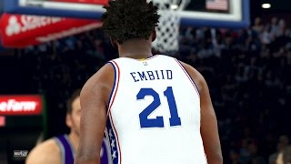Download NBA 2K17 4K Play Now - Joel Embiid Catching Lobs! 76ers PS4 Pro Video