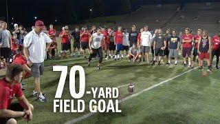 Download Andrew Baggett | 70-Yard Field Goal | NFL Draft Eligible Kicker Video