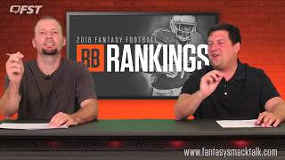Download 2018 Fantasy Football Running Back RB Tiers and Rankings Video
