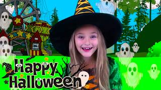 Download Sasha Pretend Play Halloween Trick or Treat Candy Park Video