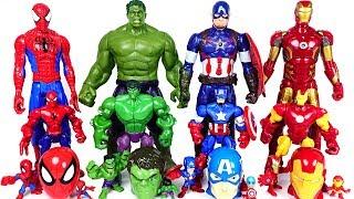 Download Marvel Avengers bigger and smaller transform! Hulk, Spider Man, Iron Man rush! - DuDuPopTOY Video