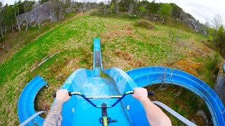 Download BMX RIDING AT INSANE ABANDONED WATERPARK! Video