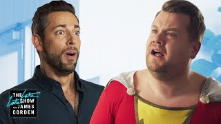Download Zachary Levi Brings Out James's Inner-Shazam Video