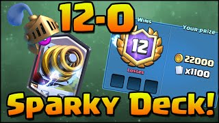 Download 12-0 Grand Challenge! Clash Royale - Best Sparky Deck and Strategy! Video