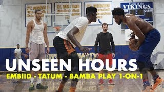 Download Joel Embiid, Jayson Tatum & Mo Bamba Play 1 on 1 | Unseen Hours Ep. 10 Video