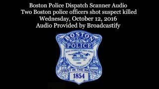 Download Scanner audio two Boston Police officers shot suspect killed Video