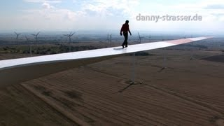 Download walking on windmill blade 300 feet over ground! Video