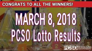 Download PCSO Lotto Results Today March 8, 2018 (6/49, 6/42, 6D, Swertres, STL & EZ2) Video