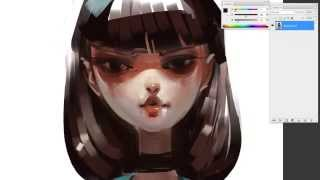 Download Girl340 Speed painting-Photoshop Video
