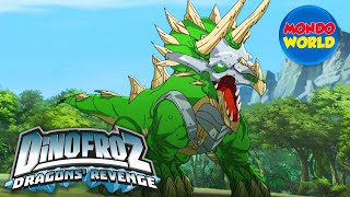 Download DINOFROZ 2 episode 16 | ACQUISITION: TRICERATOPS | Dinosaur cartoon for kids Video