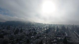 Download Dark gloomy winter wonderland 4K Drone footage Portland OR Video