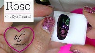 Download Rose Cat Eye Gel Nail Tutorial Video