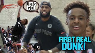 Download BRONNY James Jr FIRST EVER DUNK IN CHAMPIONSHIP GAME!!! He's ONLY 13!! Video