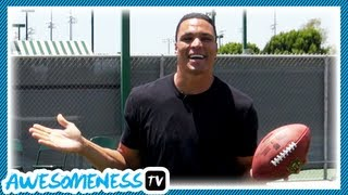 Download How To Catch a Football with NFL Pro Tony Gonzalez - How To Be Awesome Ep. 5 Video