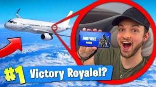 Download PLAYING Fortnite: Battle Royale... ON A PLANE! (30,000ft) Video