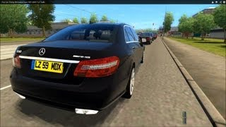 Download City Car Driving Mercedes-Benz E63 AMG High Traffic [1080p] Video
