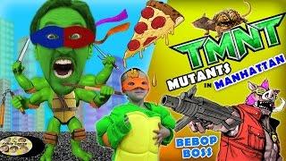 Download Michelangelo plays TMNT Mutants in Manhattan! (FGTEEV Teenage Mutant Ninja Turtles BEBOP Boss Fight) Video