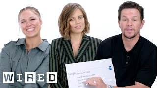 Download Mark Wahlberg, Ronda Rousey and Lauren Cohan Answer the Web's Most Searched Questions   WIRED Video