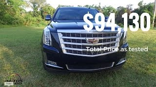 Download 2017 Cadillac Escalade Premium Luxury - Total Price as tested: $94,130 Video