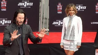 Download Keanu Reeves Handprint Ceremony with Halle Berry, Asia Kate Dillon UNEDITED Video