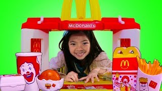 Download Emma Pretend Play w/ MCDONALDS Toy & Fun Garage Sale Video