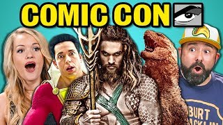 Download ADULTS REACT TO COMIC CON TRAILERS 2018 (Aquaman, Shazam!, Glass) Video