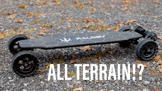 Download Raldey Carbon AT!   All Terrain Electric Skateboard Video
