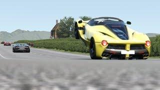 Download Ferrari LaFerrari Aperta vs Supercars at Highlands Video