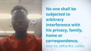 Download Ansu Wright, Guinea, reading article 12 of the Universal Declaration of Human Rights Video