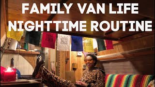 Download Winter Van Life: Mom and Son Nighttime Routine Video