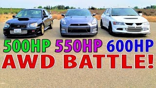 Download GTR vs EVO & STI : Who is the Japanese AWD King of the street? Video