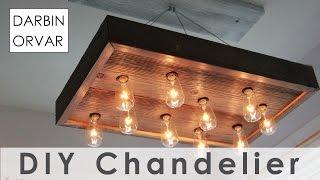 Download DIY String Light Chandelier for $40 Video
