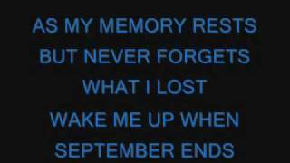 Download Green Day-Wake Me Up When September Ends lyrics Video