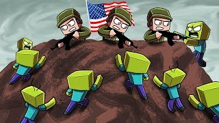 Download Minecraft | ZOMBIE ARMY VS US Marines! (Massive Mob Battles) Video