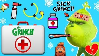Download Make THE GRINCH'S HEART GROW in THE GRINCH MOVIE HOSPITAL GAME w/ Surprise Toys Video