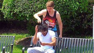 Download Shaving Peoples Heads Prank Video
