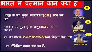 Download December 2018 भारत में कौन क्या है | Current Affairs gk in hindi (Railway/ssc/bank/pcs/govt.exam) Video