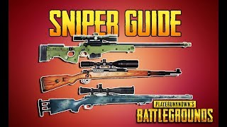 Download PLAYERUNKNOWN'S BATTLEGROUNDS SNIPER GUIDE! PUBG GUN GUIDE! TrainingGrounds Episode 5! PUBG LIVE! Video