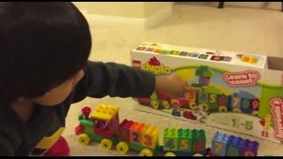 Download Kid playing with toys Lego Duplo Number Train Toy Review , Unbox, Build Video