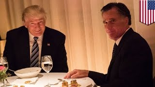 Download Trump Romney dinner: President-elect Donald watches Romney eat crow all night long - TomoNews Video