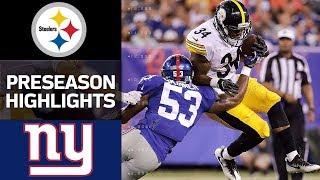 Download Steelers vs. Giants | NFL Preseason Week 1 Game Highlights Video