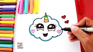Download Cómo dibujar una NUBE UNICORNIO | How to draw a cute unicorn cloud - 2 Video