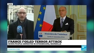 Download France: 7 people arrested in Strasbourg and Marseille over foiled terror attack Video