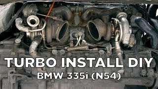 Download BMW 335i (N54) - Turbo Removal and Install DIY Video