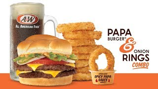 Download A&W's Papa Burger & Onion Rings Combo Video