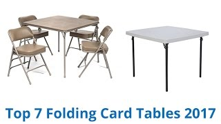 Download 7 Best Folding Card Tables 2017 Video