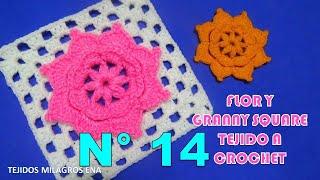 Download Flor y Granny Square tejido a crochet para cobijas de bebe Video