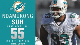 Download #55: Ndamukong Suh (DT, Dolphins) | Top 100 Players of 2017 | NFL Video