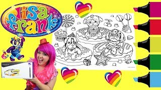 Download Coloring Lisa Frank Donuts & Dogs Coloring Book Page Colored Markers Prismacolor | KiMMi THE CLOWN Video